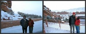 Adam and me at Red Rocks; Joel and me at Red Rocks