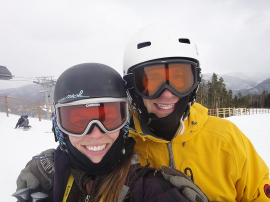 Skiing a few times, despite the bad snow year