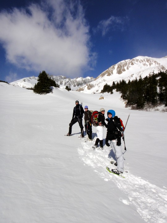 Joel and 4 of us ladies went on a fun snow climb to the Citadel