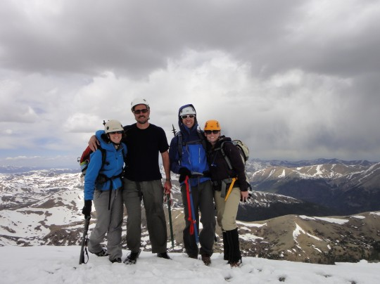 We did round 2 of the snow climb up Kelso Ridge on Torrey's Peak with Sarah & Patrick
