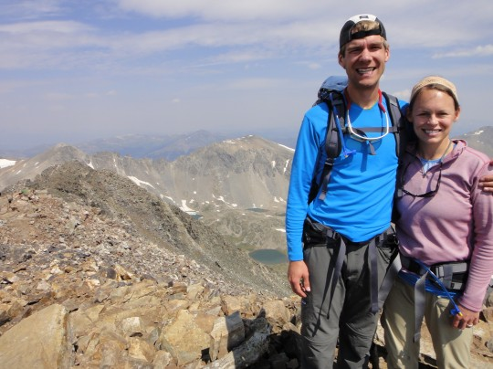 We climbed the West Ridge of Quandary Peak...our 3rd way to climb it