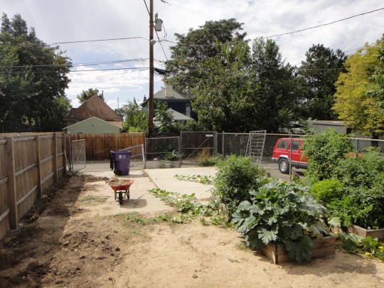Before...look at all that concrete! (2012 garden)
