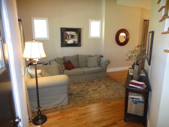Living room from inside the front door