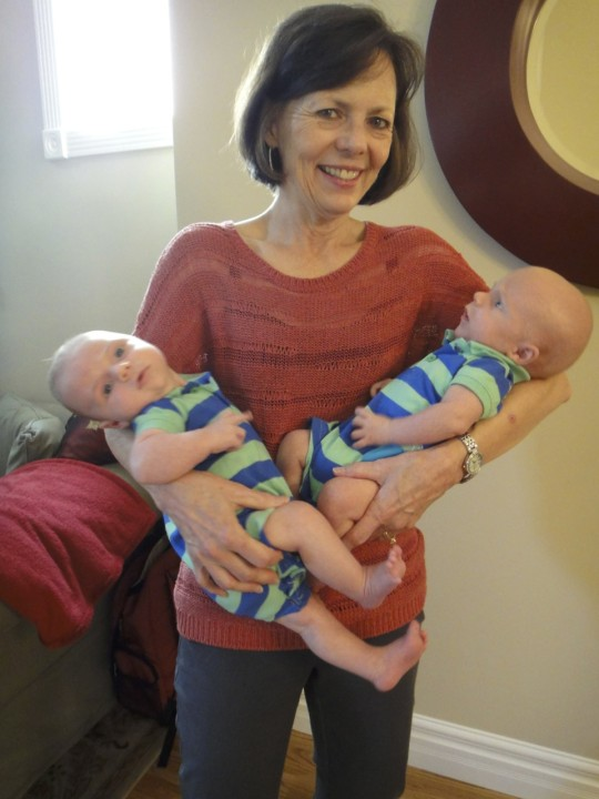 Mom with Noah, Luke