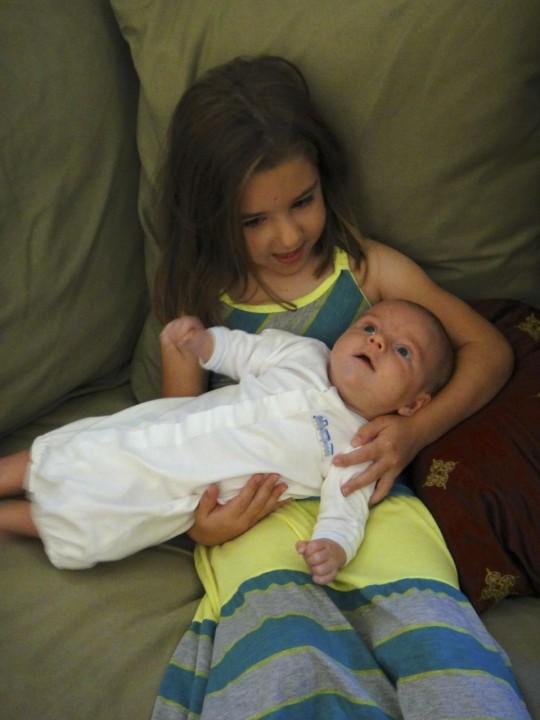 Evie with Luke