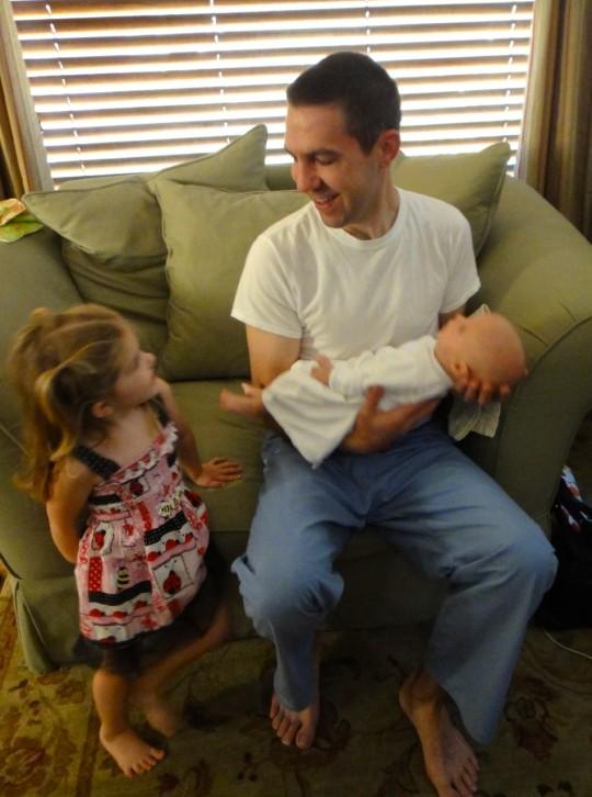 Amelia and Matt with Luke