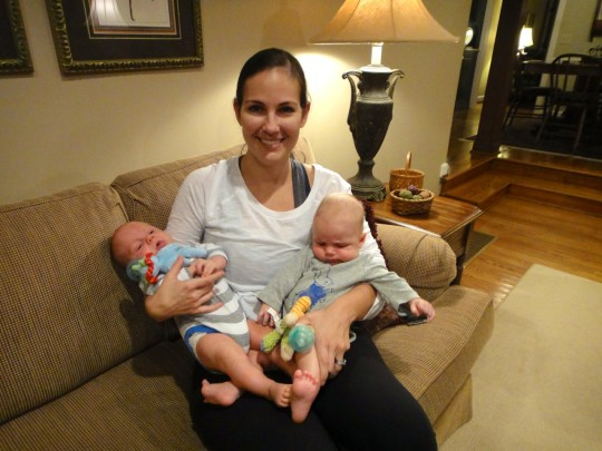 Brittney with Luke & Noah