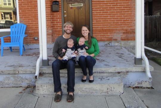 Family photo on Thanksgiving